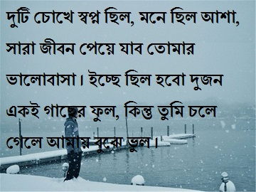 bangla sad sms kobita
