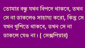 bangla whatsapp status for friends