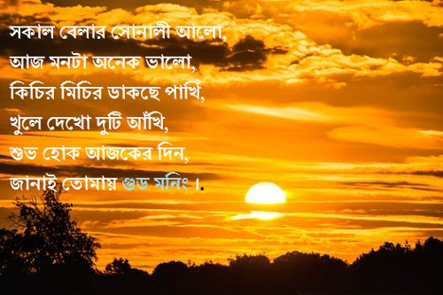 Bengali Good Morning Quotes Messages Kobita Status For Friends And Gf