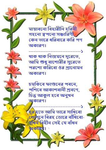 Mayabono biharini lyrics