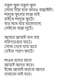 bokul ful lyrics